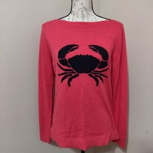 Talbot's Crab Blue and Pink Sweater.